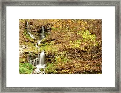 Thunder Falls Framed Print by Gregory Ballos