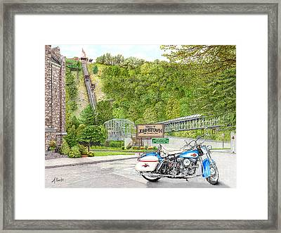 Thunder In Johnstown Framed Print by Albert Puskaric