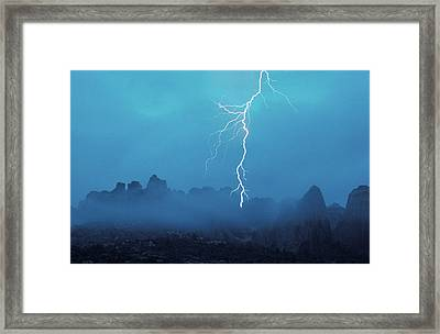 Thunder In The Sky Arches National Park Framed Print by Panoramic Images