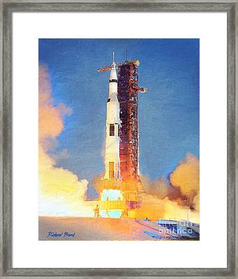 Thunder Of Apollo Saturn V Framed Print
