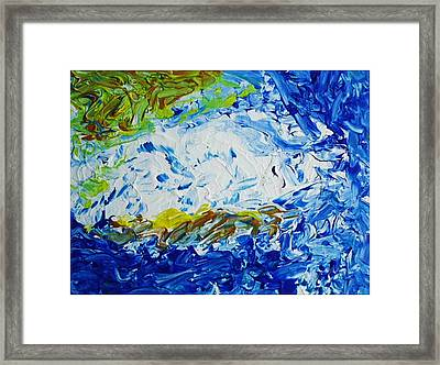 Thunder Of The Sea Framed Print