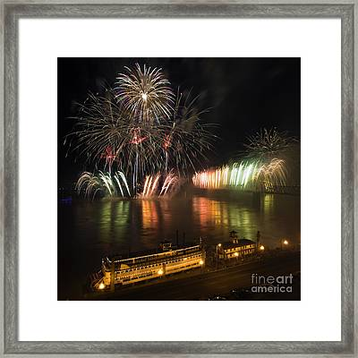 Thunder Over Louisville - D008432 Framed Print by Daniel Dempster