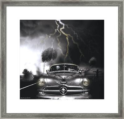 Thunder Road Framed Print by Larry Butterworth