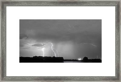 Thunder Rolls And The Lightnin Strikes Bwsc Framed Print by James BO  Insogna