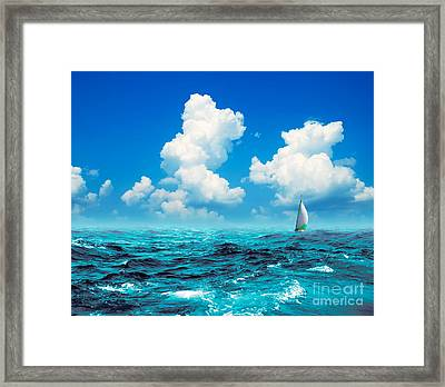 Thunder Storm Framed Print by Boon Mee
