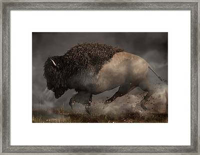 Thunderbeast Framed Print by Daniel Eskridge