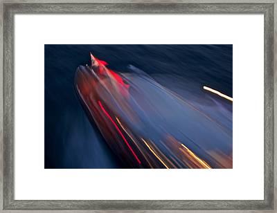 Thunderbird At Night Framed Print by Steven Lapkin