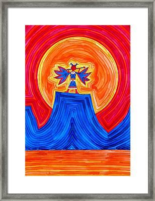 Thunderbird Original Painting Sold Framed Print