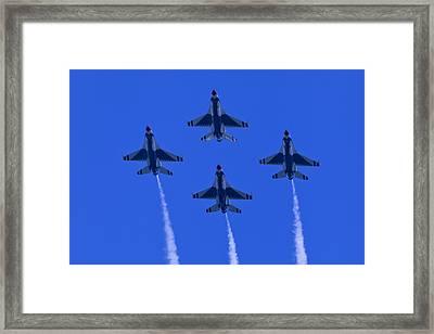 Thunderbirds Diamond Formation Undersides 2 Framed Print