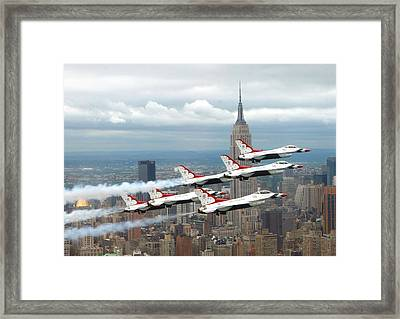 Thunderbirds Over New York City Framed Print