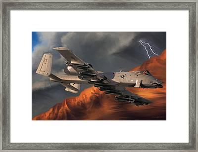 Thunderbolt II Framed Print by Dale Jackson
