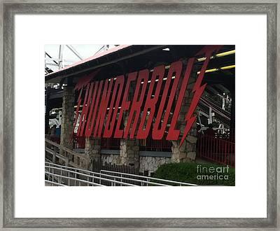 Thunderbolt Roller Coaster Framed Print