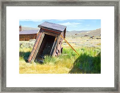 Thunderbox Framed Print