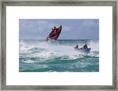 Thundercat Racing Framed Print by Mike Greenslade