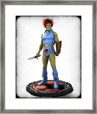 Thundercats 3000 - Lion-o V1 Framed Print by Frederico Borges