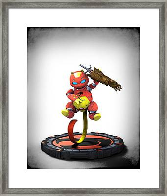 Thundercats 3000 - Snarf 2.0 Framed Print by Frederico Borges