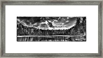 Thunderclouds Over Cary Lake Framed Print by David Patterson