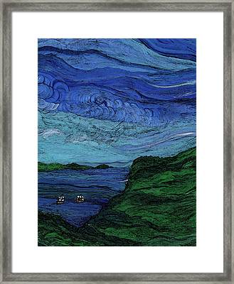 Thunderheads Framed Print by First Star Art