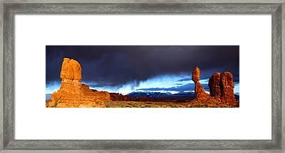 Thunderstorm Arches National Park Framed Print