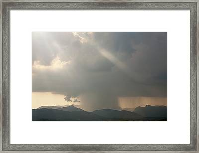 Thunderstorm Framed Print by Ashley Cooper