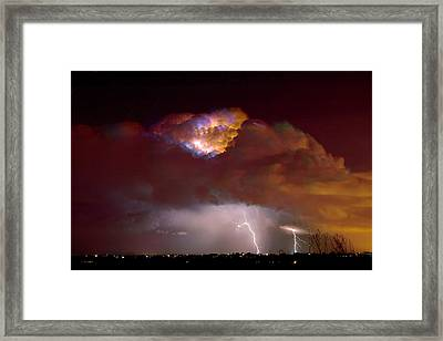 Thunderstorm Boulder County Colorado   Framed Print