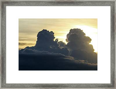Thunderstorm Clouds Framed Print by Alfred Pasieka