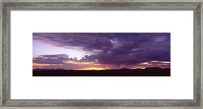 Thunderstorm Clouds At Sunset, Phoenix Framed Print by Panoramic Images