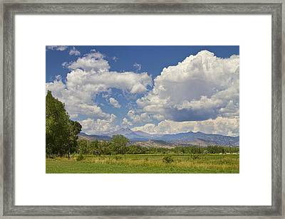 Thunderstorm Clouds Boiling Over The Colorado Rocky Mountains Framed Print