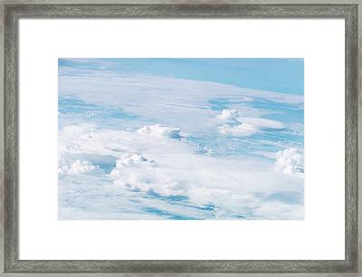 Thunderstorm Clouds Framed Print by Nasa