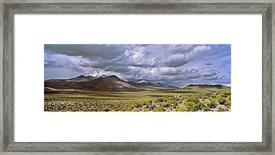 Thunderstorm Clouds Over The Volcano Framed Print by Martin Zwick