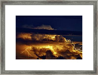 Thunderstorm From Haleakala Framed Print by Babak Tafreshi