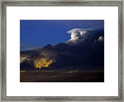 Framed Print featuring the photograph Thunderstorm II by Greg Reed