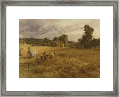 Thunderstorm In The Harvest Framed Print