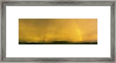 Thunderstorm, Jackson Hole, Grand Teton Framed Print
