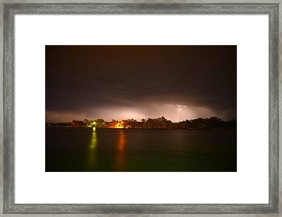 Thunderstorm On The Hasting River Framed Print
