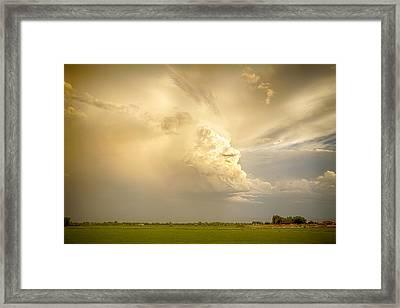 Thunderstorm Rears Ugly Head Framed Print