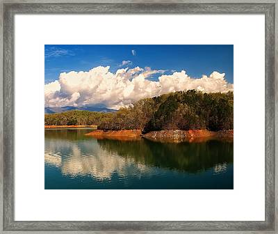 Thunderstorm Rolling Over The Smokies Framed Print