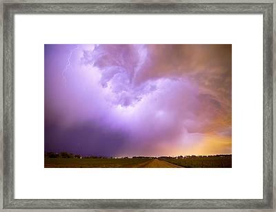 Thunderstorm Tidal Wave Framed Print by James BO  Insogna