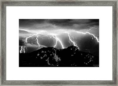 Thunderstorm Watch From Island Mount Framed Print by MLPZ Designs MANUEL LOPEZ