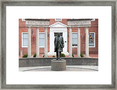 Thurgood Marshall Memorial I Framed Print by Clarence Holmes