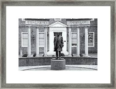 Thurgood Marshall Memorial II Framed Print by Clarence Holmes