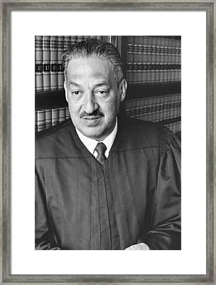 Thurgood Marshall Framed Print by Rollie McKenna