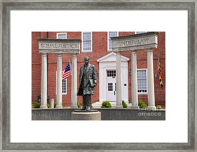 Thurgood Marshall Statue - Equal Justice For All Framed Print