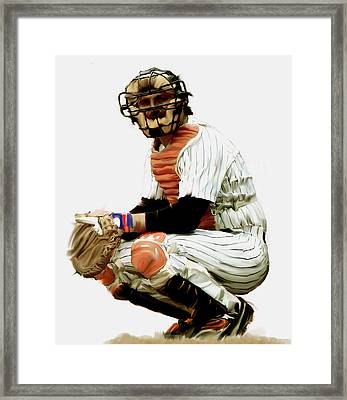 Thurman Munson  Framed Print by Iconic Images Art Gallery David Pucciarelli