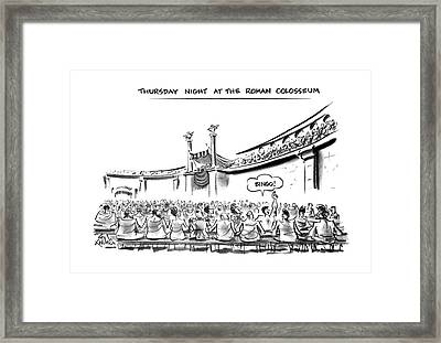 Thursday Night At The Roman Colosseum Framed Print by Ed Fisher