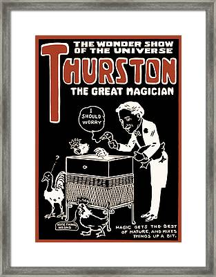 Thurston And The Wonder Show Framed Print by Jennifer Rondinelli Reilly - Fine Art Photography