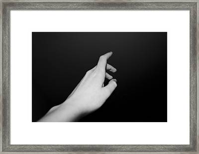 Thy Hand Reaching Framed Print