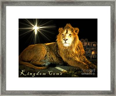 Thy Kingdom Come 201502113brun With Text Framed Print by Wingsdomain Art and Photography