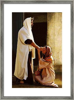 Healing The Blind Framed Print by Marcia Johnson