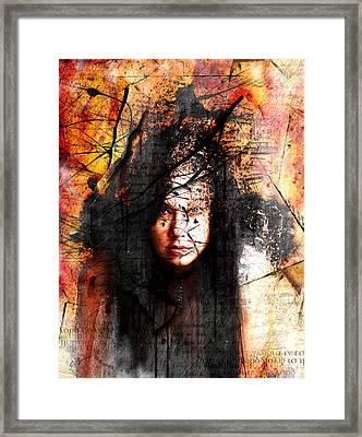 Thy Sins Like Scarlet Framed Print by Gary Bodnar